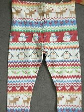 NEXT - PATTERNED MULTI COLOURED LEGGINGS -EMBROIDERED LOOK - FOR BABIES - BNWT