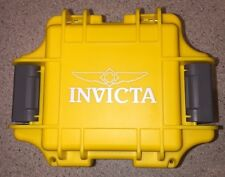 INVICTA 1 SLOT DIVE WATCH BOX YELLOW COLLECTORS WATER PROOF HARD IMPACT CASE