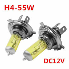 H4 55W 5000K Car Xenon Gas Halogen Headlights Headlamp Lamp Bulbs Yellow 1Pair