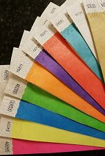 """600  3/4"""" (60 each of 10 colors) PAPER TYVEK WRISTBANDS, TYVEK WRISTBANDS"""
