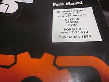 Dresser Cummins Model VT-VTA-28-C635 Engine Parts Manual