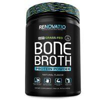 RENOVATIO NUTRITION Bone Broth Protein and Collagen Powder Natural flavor 15.7oz