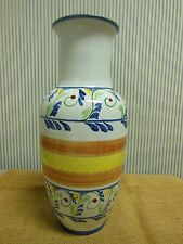 """Mexican Mexico Tall Urn Vase 00006000  Hand Painted 12"""" tall"""