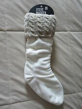 NWT STEVE MADDEN BEIGE CABLE KNIT BOOT LINERS - ONE SIZE
