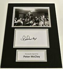 Peter McCloy SIGNED autograph A4 Photo Mount Display Glasgow Rangers & COA