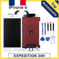 ECRAN IPHONE 6 BLANC VITRE TACTILE + LCD ORIGINAL RETINA SUR CHASSIS + OUTILS