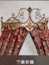 Tarleton Wall Teester Bed Crown Antique Gold Touch of Class New