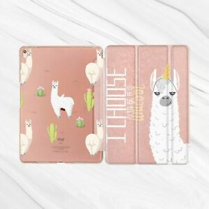 Alpaca Llama Unicorn Cactus Rose Gold Case iPad Pro 10.5 9.7 Air Mini 2 3 4