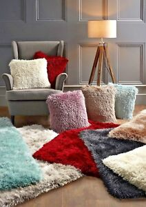 Origin Luxury Extravagance Shaggy Rug 7 Colours, matching cushions available