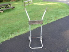 Outboard Boat Motor Engine Rack Carrier Stand Marine Shop Hand Truck