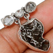 Meteorite Campo Del Cielo - Argentina 925 Silver Pendant AP151588 102T