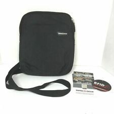 "Swiss Gear Mens Messenger Shoulder Bag 10"" Tablet Bag RFID Block Travel Gray"