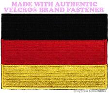 GERMAN FLAG PATCH GERMANY DEUTSCHLAND EMBLEM Aufnäher w/ VELCRO® Brand Fastener