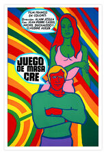 Cuban film Graphic Design movie Poster.MASACRE GAMES.French.Home décor