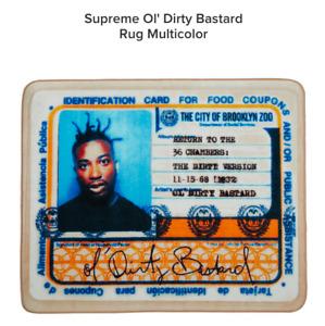 supreme new york ol' dirty bastard rug