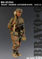 1/35 Scale Resin Figure Model Kit Soviet Soldier with Panzerfausts,  B6-35104