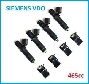 Fuel Injectors x 4 465cc 45lb for FORD FOCUS ZETEC ST170 BMW E30 E36 E46 Seimens