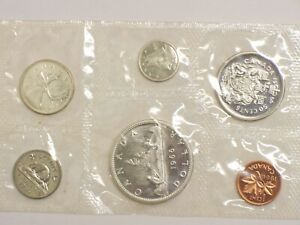 1966 Silver Canada Mint Proof Like 6-Coin Set Sealed Uncirculated