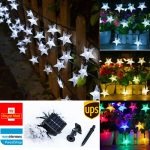 Solar Powered Fairy String LED Star Lights Waterproof Decor Party Garden Outdoor
