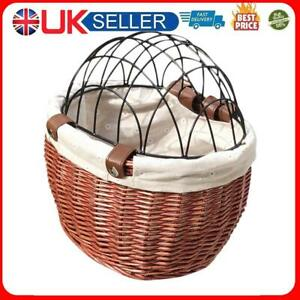 Cat Dog Bicycle Storage Basket Handwoven Pet Seat Front Handlebars Carrier