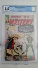 JOURNEY INTO MYSTERY THOR # 94  CGC 5.5  -FN  3RD APP OF LOKI  CENTS 1963