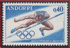 1968 ANDORRE N°190** Jeux Olympiques MEXICO, French Andorra Olympic Games MNH