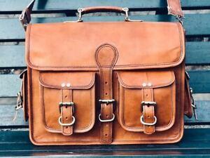 Bag Leather Genuine Men S Laptop Vintage Messenger Briefcase Travel Satchel New