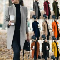Women's Slim Blazer Suit Long Sleeve Coats Ladies Work Jackets Outwear Cardigan
