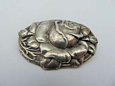 XXL Brosche 800 Silber Rose (A)