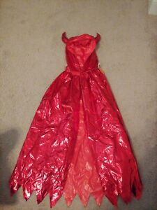 Child Boy Girls Red Devil Cloak Halloween Party Cosplay Cape
