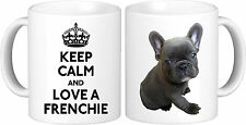 Personalised KEEP CALM French Bulldog Mug High Quality Great Birthday Gift
