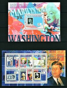 GUINEE 2009 MARILYN MONROE ET KENNEDY DANS LES TIMBRES NORMA WASHINGTOM MNH**