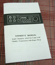 Superstar GR (Grant) Export CB Radio Owners Manual