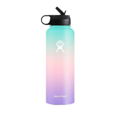 32OZ Hydro Flask Water Bottles Colorful Stainless Outdoor Flask Straw Lid Bottle