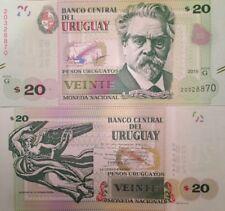 URUGUAY 2015 20 PESOS UNCIRCULATED BANKNOTE P-NEW SAN MARTIN FROM A USA SELLER