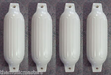 """(4) Marine Premium WHITE 5.5"""" x 20"""" BOAT BUMPERS Dock Fender Cushion Protection"""
