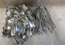 Konvolut Besteck 90er 100er Silber, versilbert 9,0 kg Löffel Gabel Silberschrott