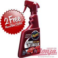 Meguiars Quik Exterior Paintwork Spray Detailer & Clay Bar Lube *2x FREE CLOTHS*