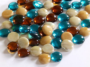100 x Glass Pebbles / Nuggets / Stones / Gems ***Top Selling Mixes***