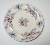 "Staffordshire Wood & Challinor Purple Feather Transferware 8"" plate"
