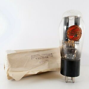 1 X U50/80 MARCONI TUBE. BLACK PLATES. SUPER RARE 3 GETTER. 1940s PRODUCTION #US