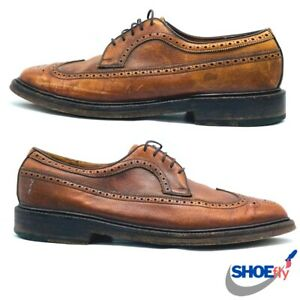 Vintage Footjoy Brown Leather Spade Sole Oxfords  Size 9.5 C   Ships Fast!