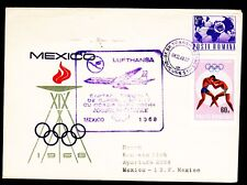 "Erstflug LH ""Bukarest - Frankfurt - Mexico"" 08.10.1968 !! HaSi.1059 Olympiaflug"