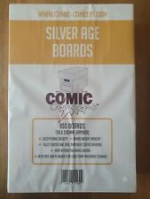 More details for 100 x silver age comic concept comic book backing boards