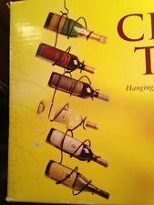 Wine Holder Oenophilia 6-Bottle Climbing Tendril Hang Ceiling W/Box Black Metal