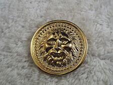 Goldtone Lion Head Round Pin (B19)