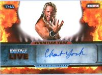 TNA Christian York 2013 Impact Wrestling LIVE GOLD Autograph Card SN 54 of 99
