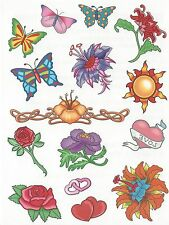 15 - different Temporary Tattoo BEAUTIFUL NEW! butterflies heart flower AWESOME