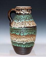 Huge Vintage Carstens West German Art Pottery Lava Glaze Jug Ewer Vase