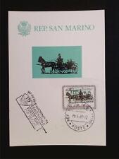 SAN MARINO MK 1969 PFERDEKUTSCHE PFERD HORSE MAXIMUMKARTE MAXIMUM CARD MC c5476